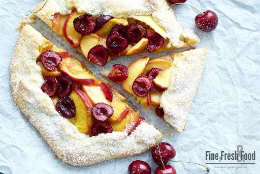 Peach and Cherry Galette Recipe on Yummly. @yummly #recipe