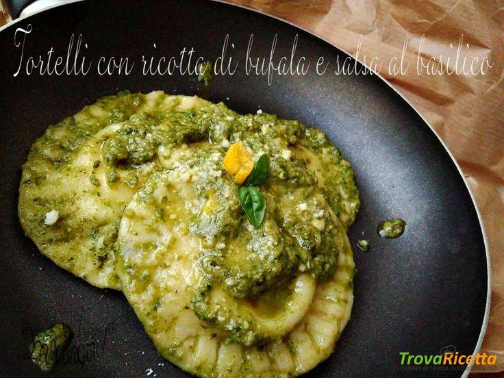 Tortelli di ricotta di bufala e salsa di basilico  #ricette #food #recipes