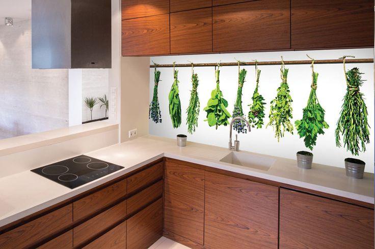 Kuchynská zástena s motívom byliniek - DIMEX