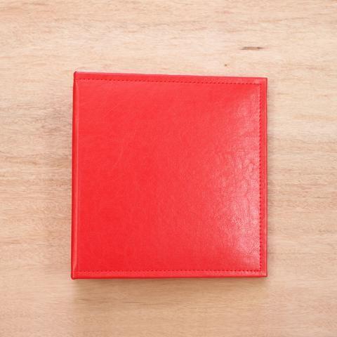 Cherry 6x8 Faux Leather Album - Pocket Scrapbooking - 1