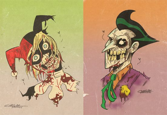 Zombie Joker and Harley. I know you'll appreciate this one.