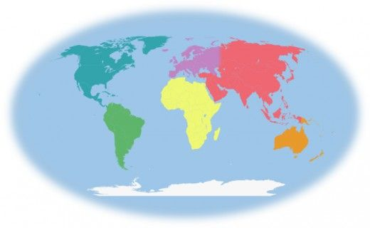 Introduction to continents and countries for preschool and kindergarten