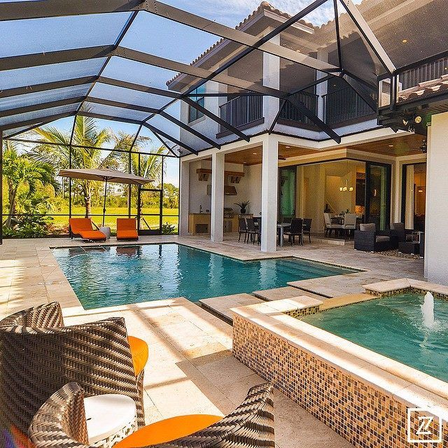 Parade Of Homes Arthur Rutenberg Homes Pool Swimmingpool Exterior Out Door  Spaces Patio Porch | TERRAZA Y JARDIN | Pinterest | Patios, Doors And  Spaces