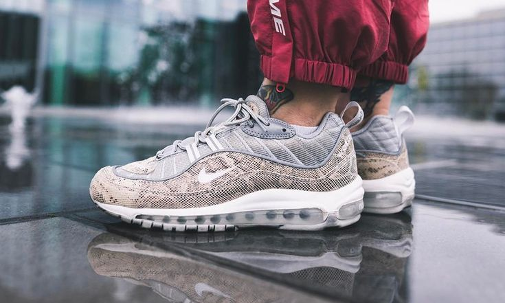 NIKE AIR MAX 98 SUPREME SNAKESKIN SAIL WHITE 844694 100