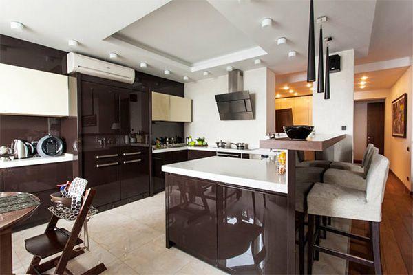 Interior design kitchen with Breakfast bar-2