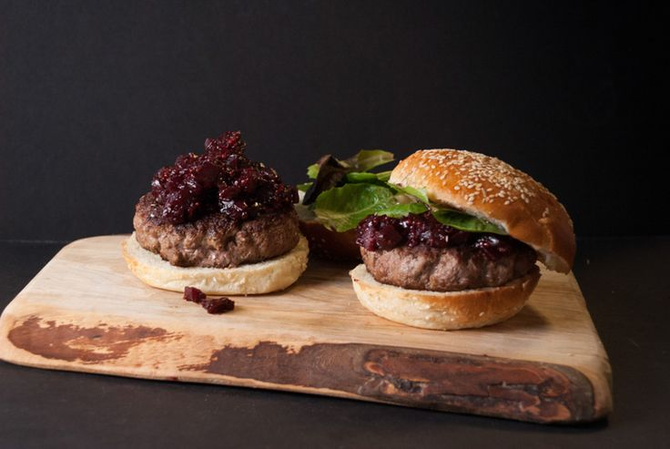 Beef Burger with Beet Relish