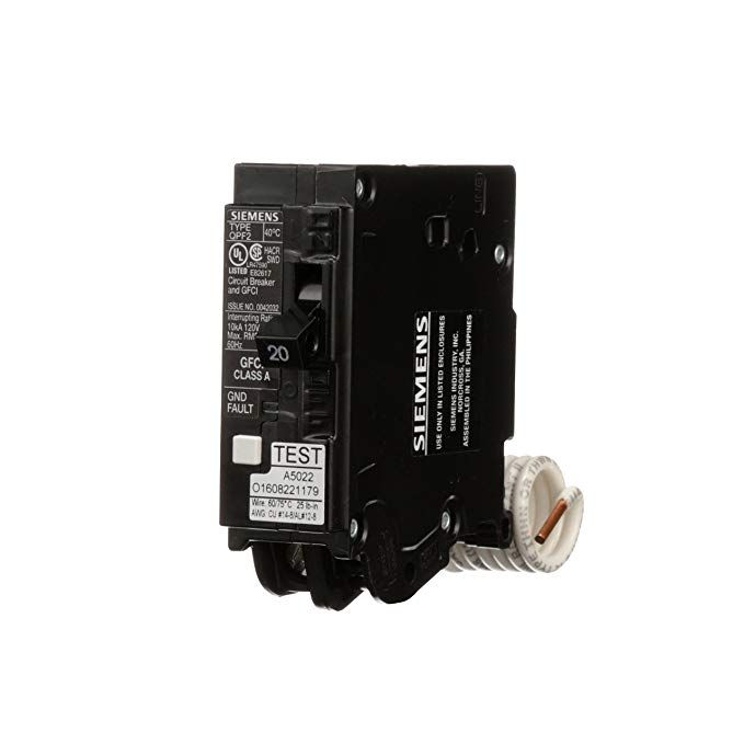 Siemens Qf120a Ground Fault Circuit Interrupter 20 Amp 1 Pole 120v 10 000 Aic Review Siemens Circuit Ebay