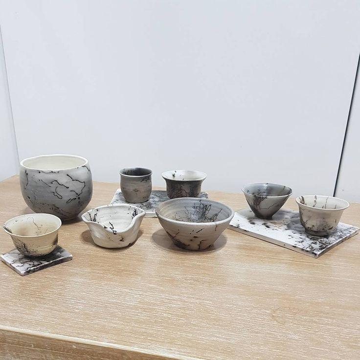 Fresh from the raku .... see you tomorrow at Pluit village mall, jakarta. #keramikpelangi12 #keramikkarawaci #handmadepottery #rakufiring  Pottery by @epicai