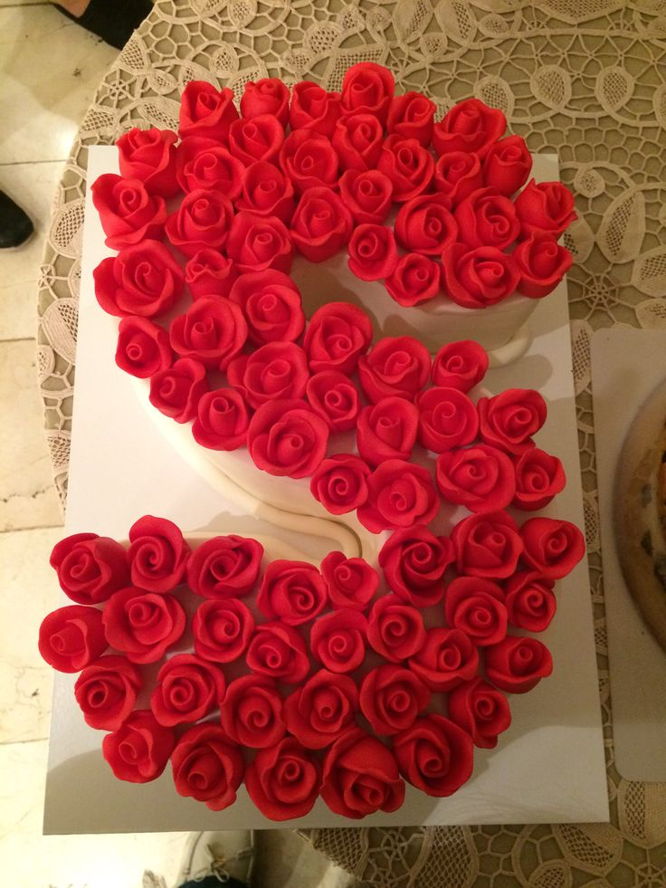 Romantic Heart Shaped Birthday Cake With Name For My Love