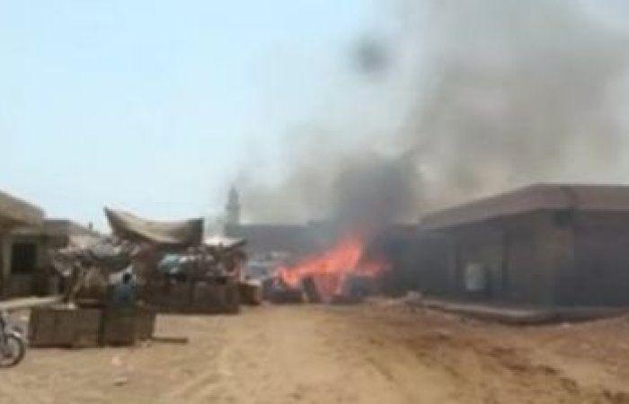 اخبار اليمن اليوم : حريق هائل في سوق شعبي في الحديدة ...