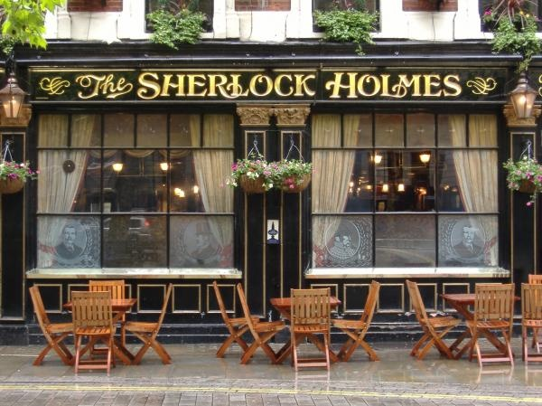 Sherlock Holmes Pub, London.  Formerly the Northumberland Arms, it was a favorite hangout of Sir Arthur Conan Doyle.