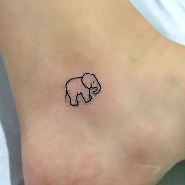 unique Tiny Tattoo Idea - Small Ankle Tattoo Idea...