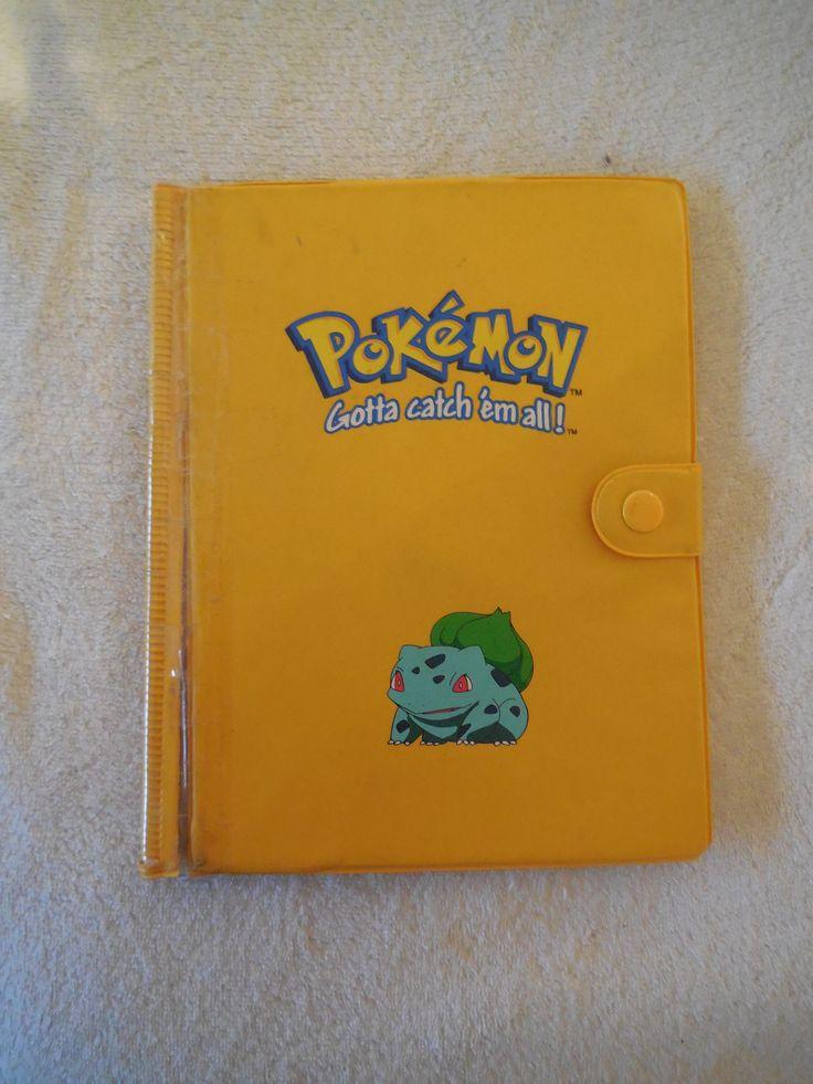 Pokemon BULBASAUR Yellow Binder/Folder badly damaged