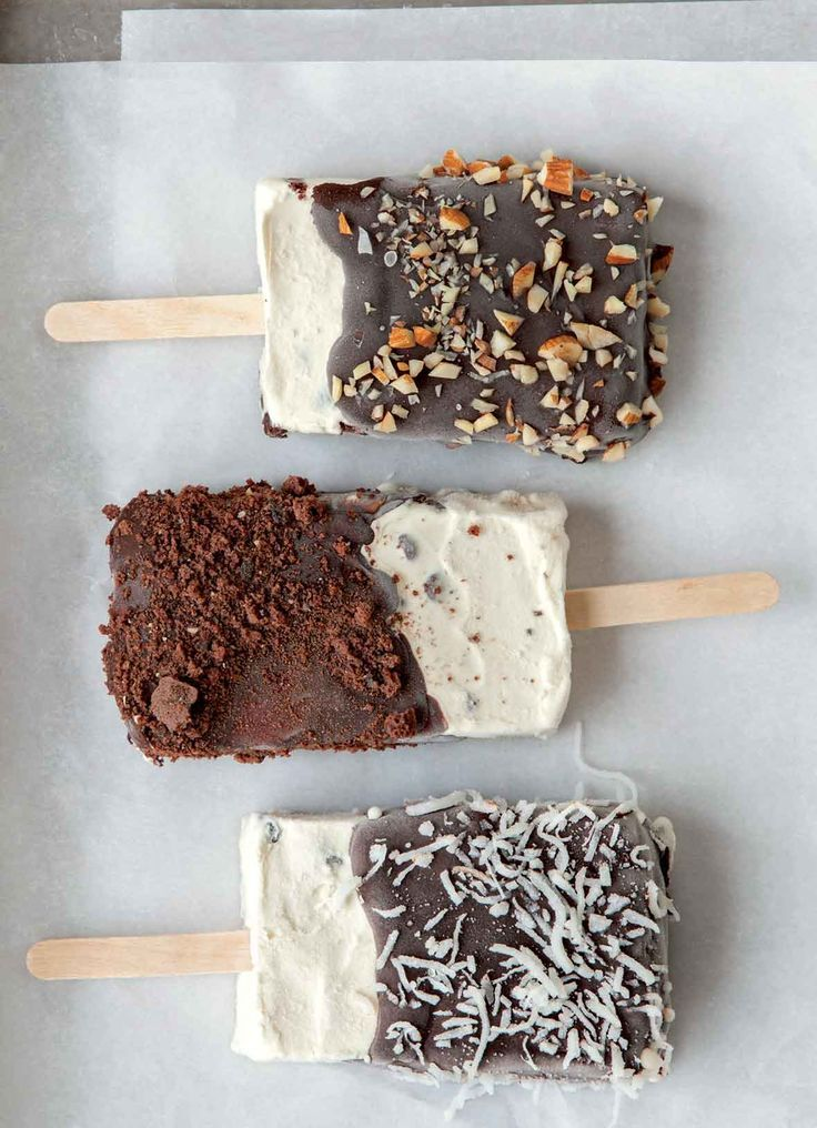 Homemade ice cream bar