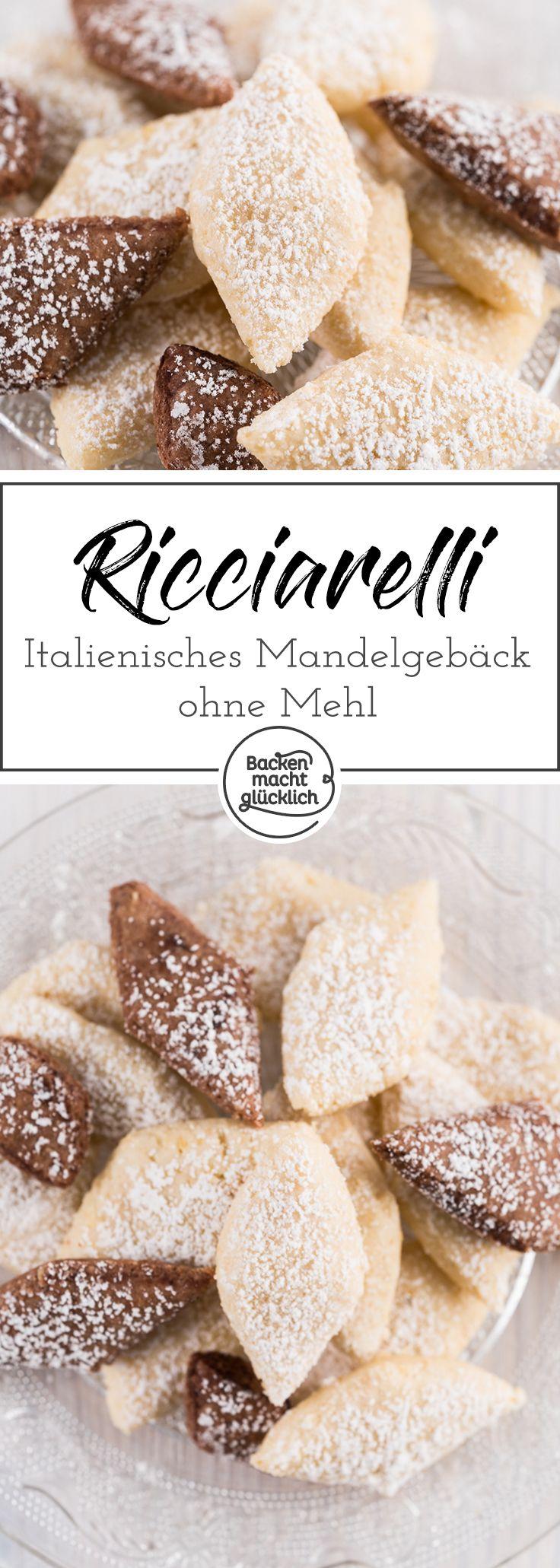 Ricciarelli di Siena sind köstliche zarte Mandelkekse mit weichem Kern. Das weiche italienische Mandelgebäck ohne Mehl gehört seit Jahren zu unseren absoluten Lieblingssüßigkeiten.