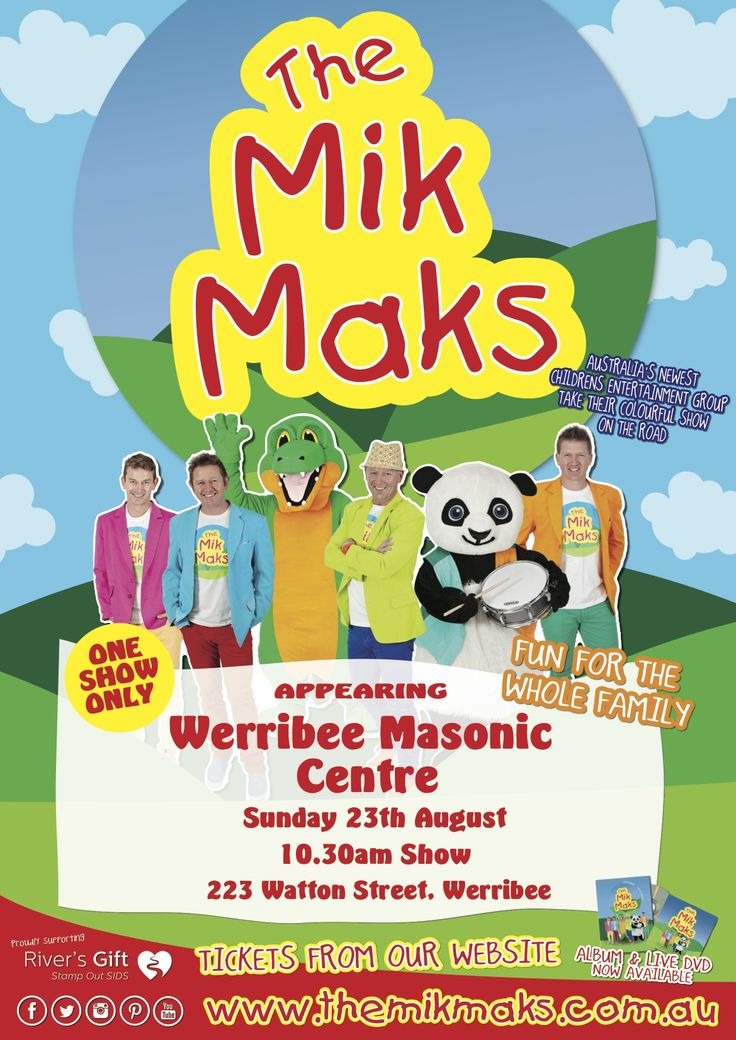 The Mik Maks are coming to Werribee!!! Sunday 23rd August 2015.. Book tickets today