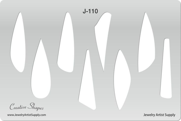 Small Long Drops Template http://www.jewelryartistsupply.com/Long_Drops_Small_Template_p/dtp-j110.htm