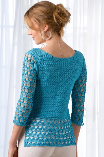 Ribbons and Lace Top by Shannon Mullett-Bowlsby for Shibaguyz Designz - Crochet! Magazine Spring 2013