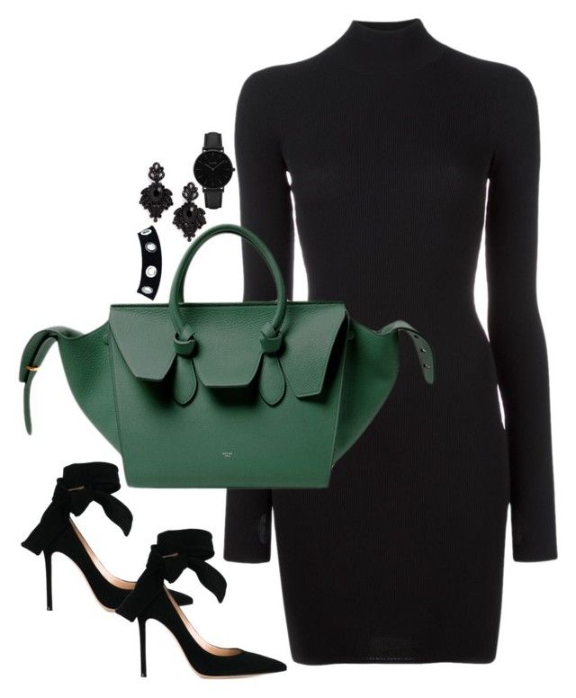 """""""Untitled #2925"""" by theaverageauburn on Polyvore featuring adidas Originals, CÉLINE, Gianvito Rossi, CLUSE and Tasha"""
