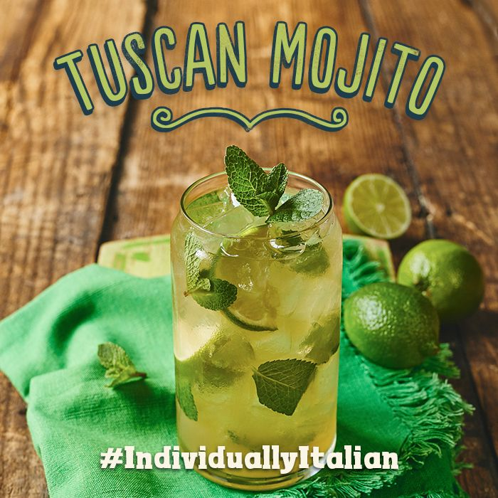 Lively & fresh. Bacardi white rum, amaretto, soda, fresh lime & mint. #IndividuallyItalian