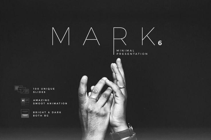 Mark06-Minimal Powerpoint Template by dublin_design on @creativemarket