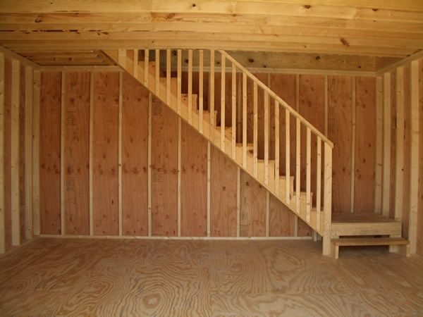 Amish Built Attic Car Garage With Loft Space: Image Result For Inside 2 Story Amish Sheds