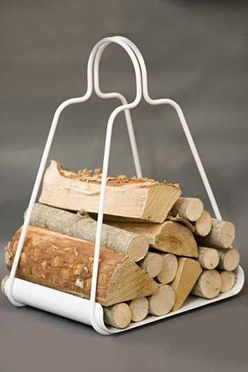 Fire  Wood Holder  Maze love this for our white fire place!