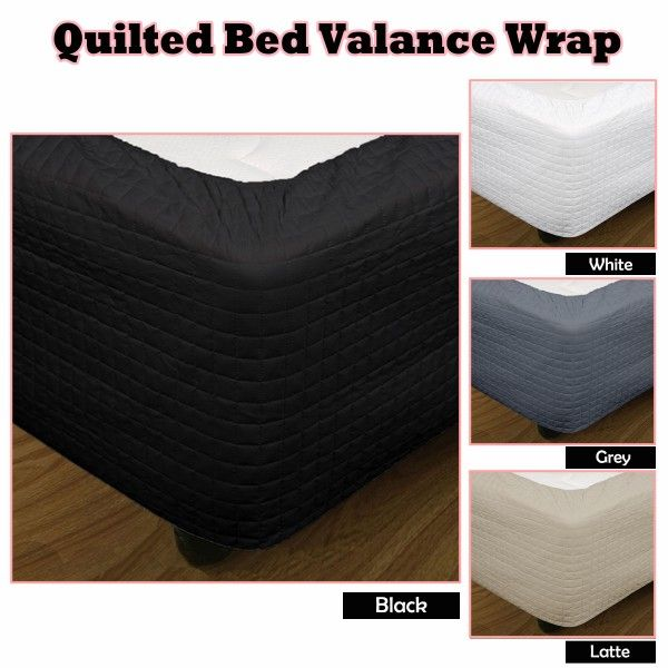 This effortless Quilted Valance Wrap is set to finish off the designer look in your bedroom.
