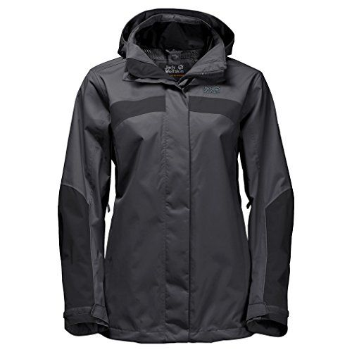 Jack Wolfskin Women's Topaz Jacket:   As versatile as your hiking ambitions. The functional and reliable topaz II is a classic collection piece. The topaz II hiking jacket is waterproof, windproof and breathable; it is also very robust and equipped to take on any weather. The underarm zips can be adjusted for individualized, fine-tuned ventilation - depending on the weather and the intensity of the activity. The short system zip allows you to zip in an insulating inner jacket for an in...