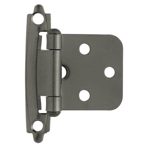 Self-Closing Steel Overlay Hinge (Set of 2) (Anthracite (Grey) Finish)