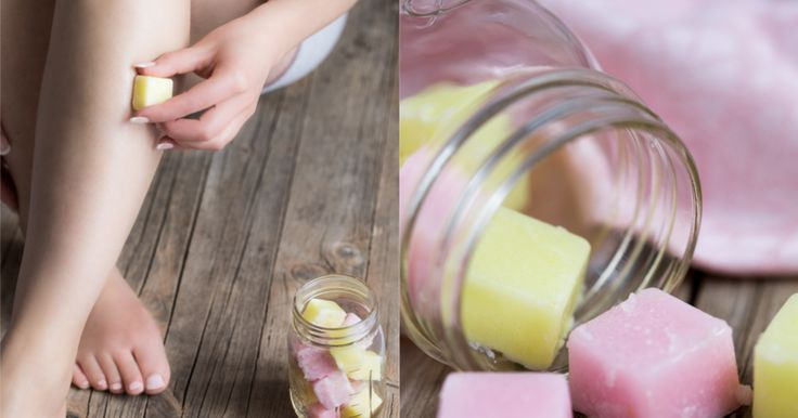 DIY: Peeling Würfel selber machen aus Zucker, Kokosöl und Zitrone