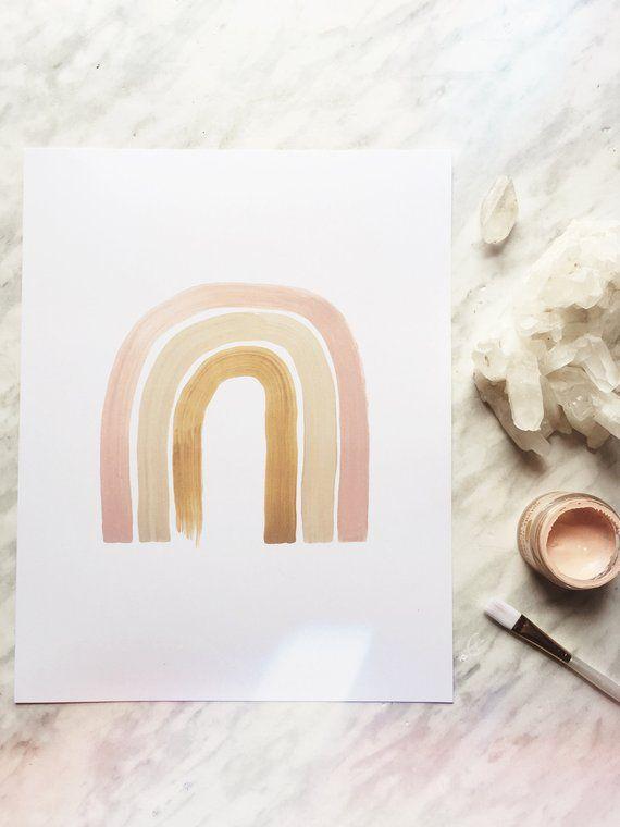 Neutral Rainbow Print Rainbow Art Neutral Nursery Print