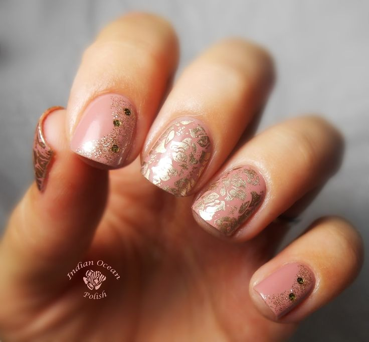 Indian Ocean Polish: Pink, Gold and Rose Nails