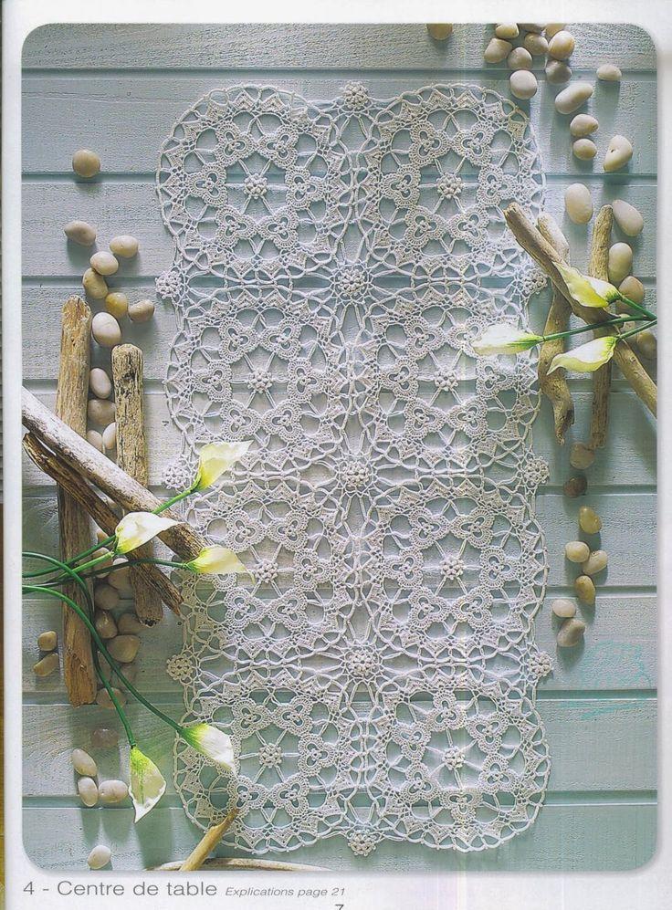 lo spazio di lilla: Schemi all'uncinetto /Crochet patterns free: tendine, centri e bordi dal web