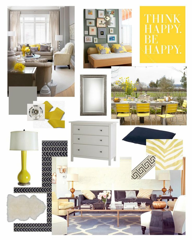 Yellow Gray And White Bedrooms: 73 Best Navy/Yellow/&Maybe Grey Living Room Makeover