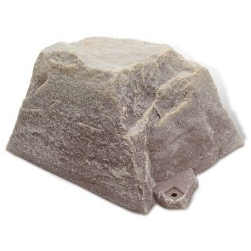 DekoRRa Small Artificial Rock Cover for Outlets & Septic Cleanouts (sandstone (Brown)) (Polyresin), Outdoor Décor
