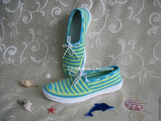 Обувь ручной работы. Ярмарка Мастеров - ручная работа. Купить Слиперы женские. Handmade. Комбинированный, мокасины, Тапочки ручной работы
