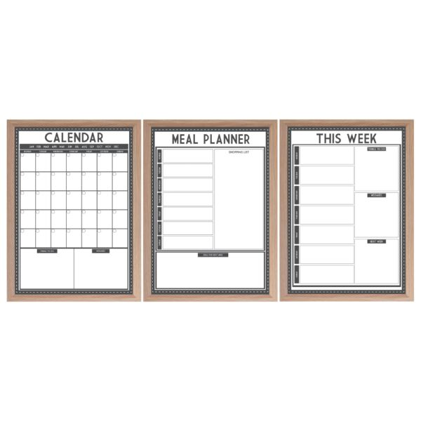 Create your own command centre with reusable planners - choose from 6  layout options (calendar, weekly planner, meal planner, Noticeboard, family planner and multi planner) in our classic black and white look.  www.atpcreativedesign.com