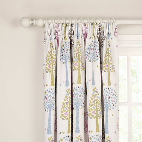 Buy John Lewis Magic Trees Blackout Lined Pencil Pleat Curtains, Multi Online at johnlewis.com