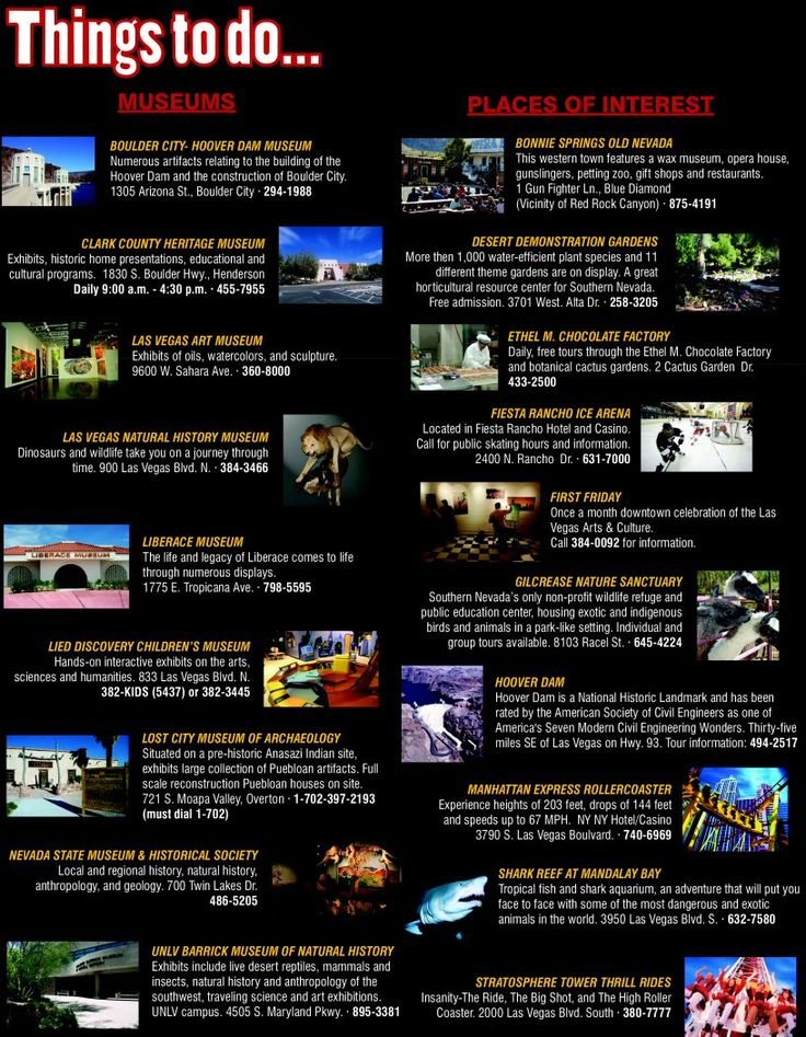 Things to do in Las Vegas. Go crazy with this list of to-do's in the city of sin! #sincity #lasvegas #vegas Book your trip today... *this link may contain affiliate links