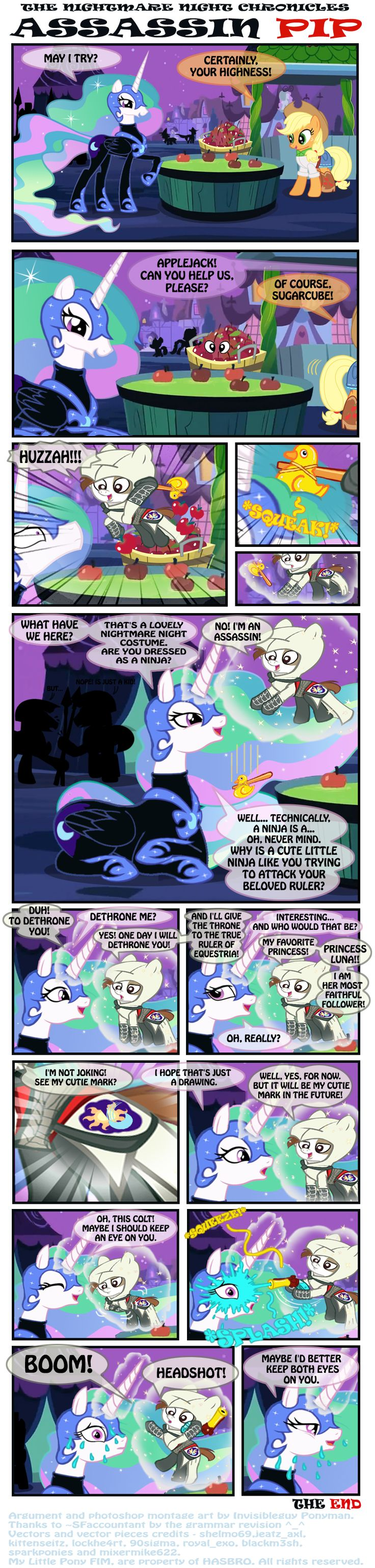 THE NIGHTMARE NIGHT CHRONICLES - ASSASSIN PIP by INVISIBLEGUY-PONYMAN on deviantART