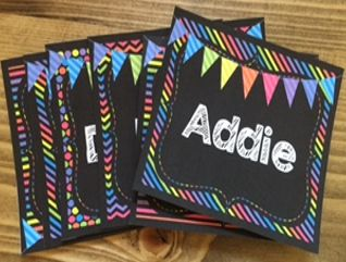 Student Names - Classroom BRIGHTS - Love the look of brights on black classroom decor!!