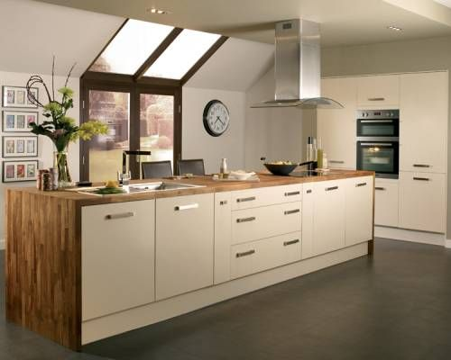 This is the kitchen we love + the tiles going to look great Howden Kitchens Greenwich Cream