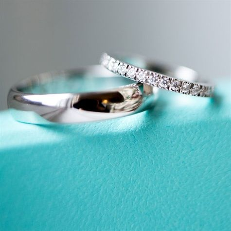 Fabulous Diamond Wedding band with the Tiffany engagement ring This would be the most perfect ring