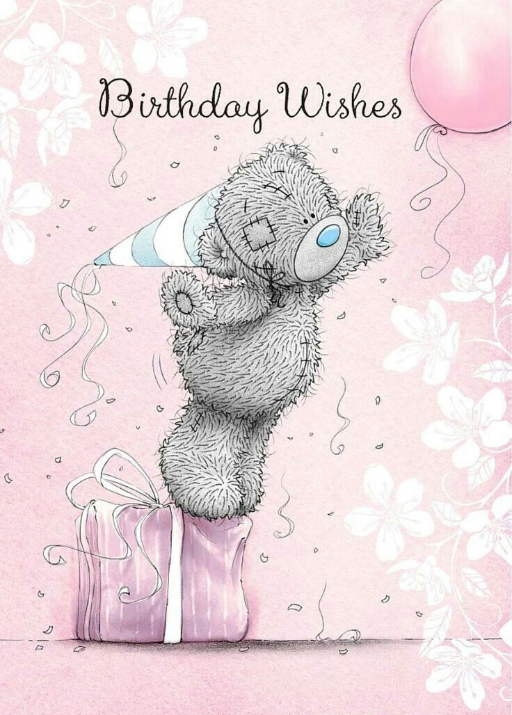 "COUSIN FEMALE BIRTHDAY GREETING CARD 7/""X5/"" CUTE BEAR//CAKES FREE P/&P"