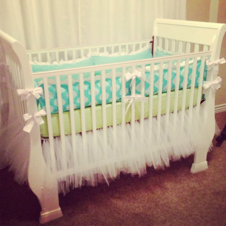 Tulle tutu crib skirt....I think I'm going to attempt to make one of these...