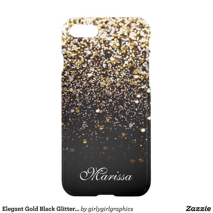 Elegant Gold Black Glitter Clearly™ iPhone 7 Case Girly-Girl-Graphics at Zazzle: Elegant Trendy Modern Unique Customizable Stylish Girly Classy Yellow and White Gold Black Glitter Pattern Print Uncommon Clearly™ Deflector Apple iPhone 7 Case to Personalize Your Beautiful Name using a Fancy Script Typography Font Text features a Fashionably Chic Design and makes a Beautiful Birthday, Christmas, Wedding, Graduation, or Any Day Gift for Yourself, Friends, or Family. ☆ Please, note: Like all…