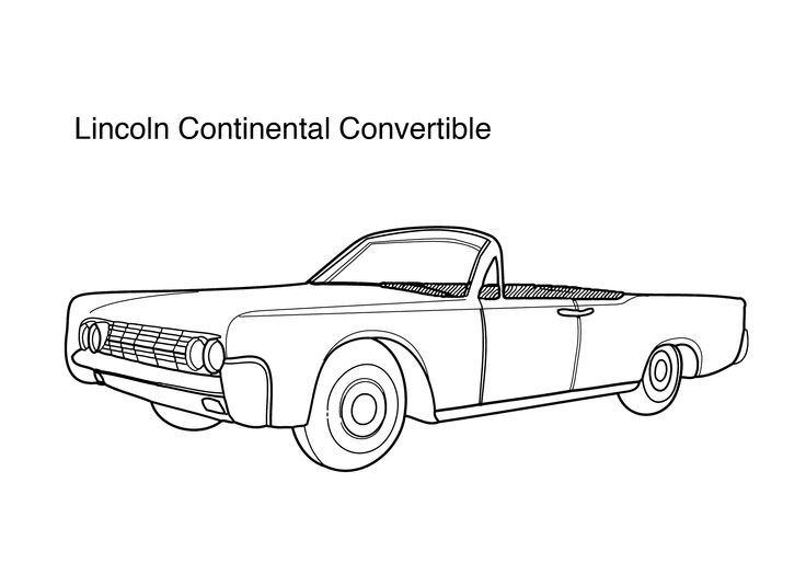 Convertible Car For Kids >> Super car Lincoln Continental convertible coloring page for kids, printable free | Super cars ...