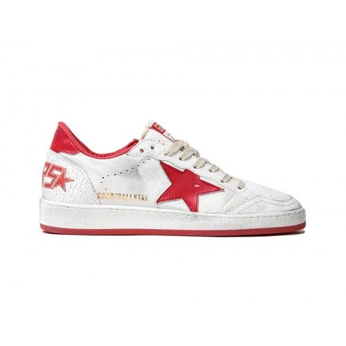 GGDB Women - Buy 2016 Golden Goose DB Ballstar GGDB Women Sneakers Red White Online GGDB Lebanon Shop