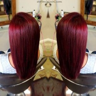Deep, rich red! Love this hair!❤️